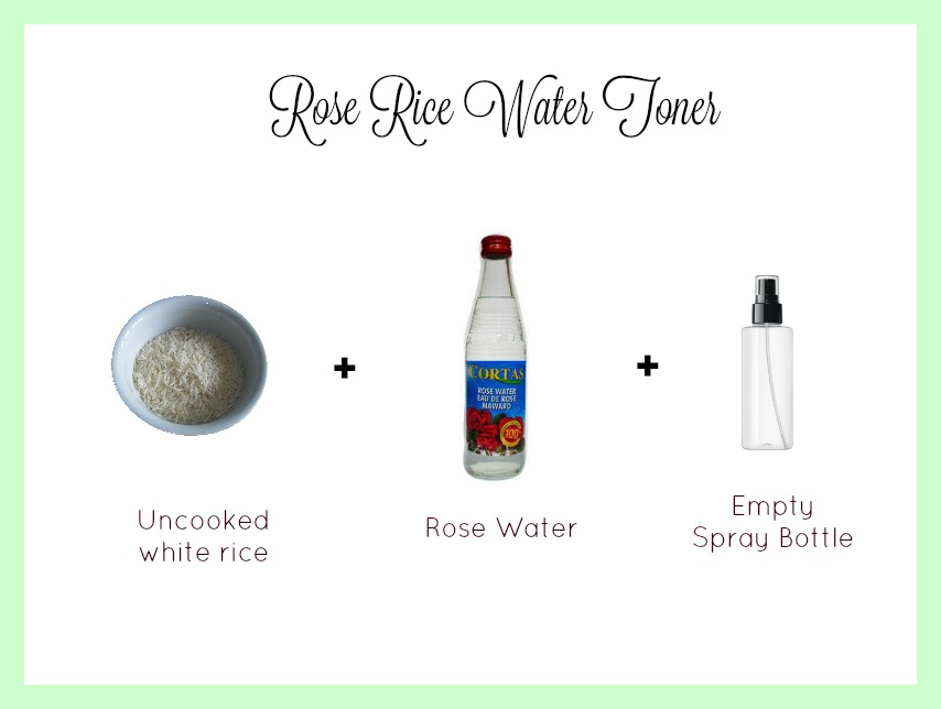 rose rice water toner