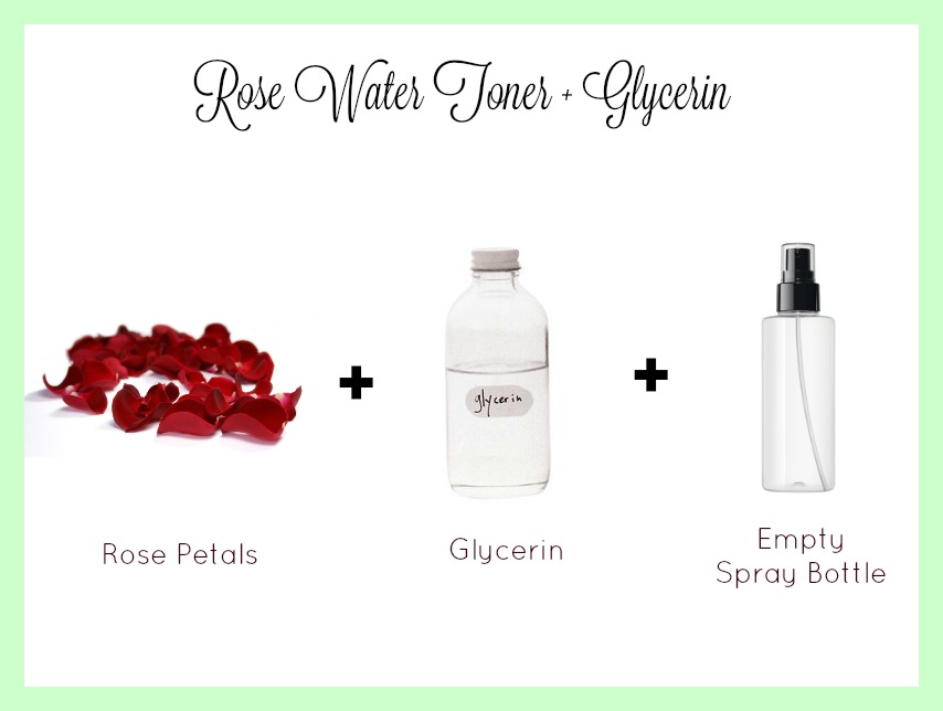 rose water glycerin toner