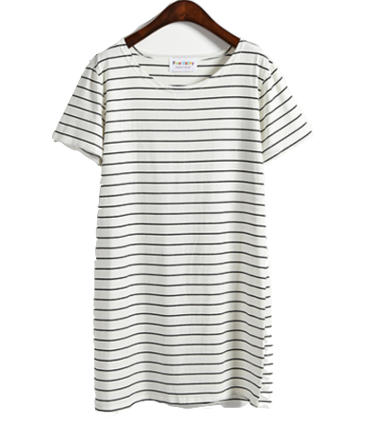 stripe-crewneck-short-sleeves-t-shirt-dress