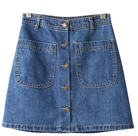 a-line-button-down-denim-skirt-with-dual-pockets