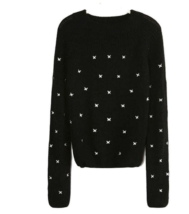black-knit-sweater