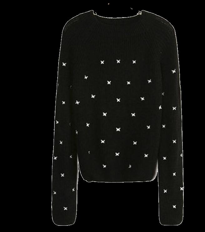 black-knit-sweater