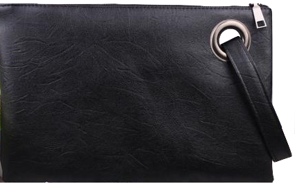 black-leather-clutch