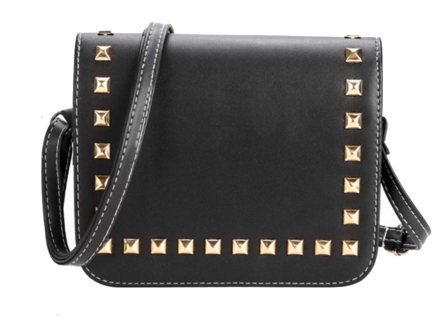 black-leather-crosbody-featuring-gold-rivet-detailing