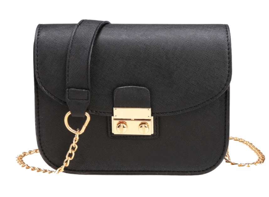 black-leather-crossbody-with-chain-shoulder-straps