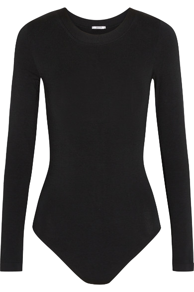 black-long-sleeve-bodysuit