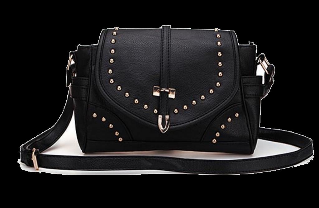 black-pu-leather-shoulder-bag-with-studded-details