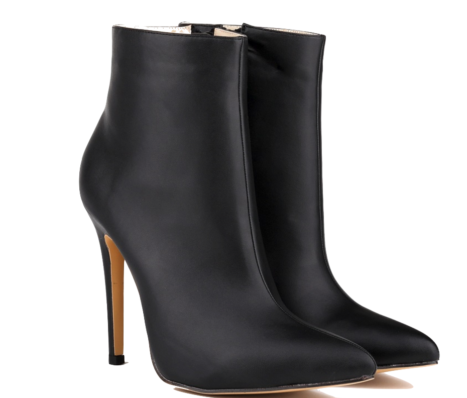 black-pointed-toe-high-heel-ankle-boots