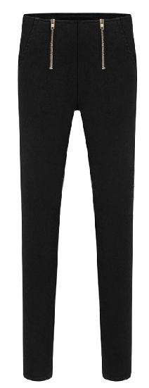black-slim-fit-stretchy-leggings-pants-with-double-zipper-detailing