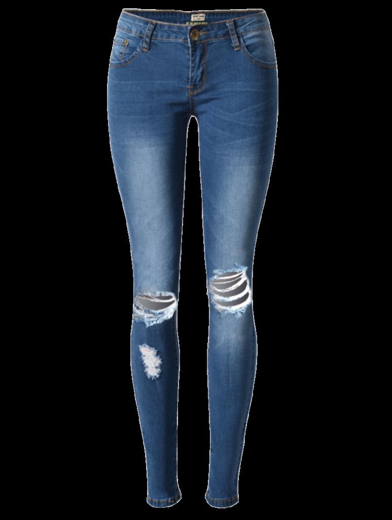 blue-high-waisted-ripped-knee-hole-skinny-jeans