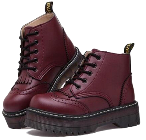 burgundy-lace-up-oxford-ankle-boots