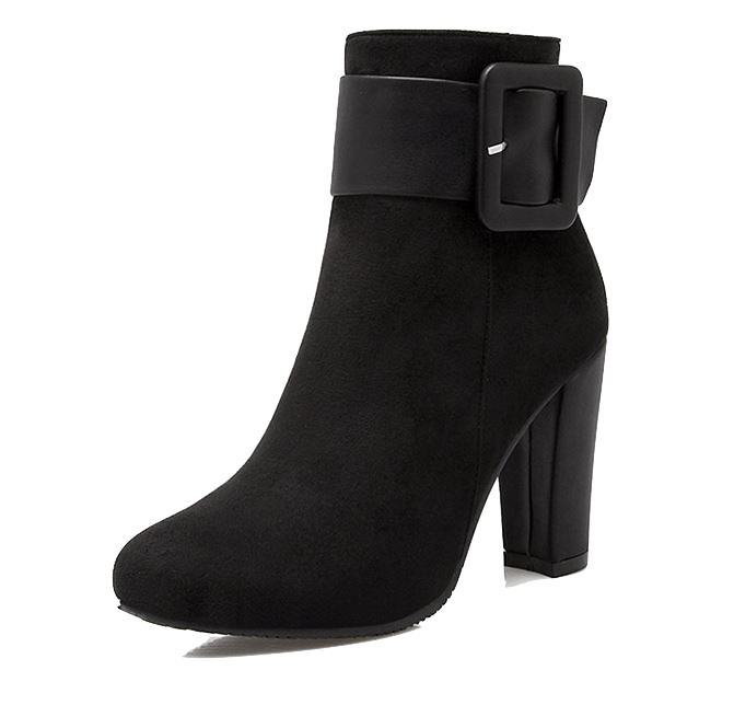 casual-buckle-strap-thick-high-heel-boots