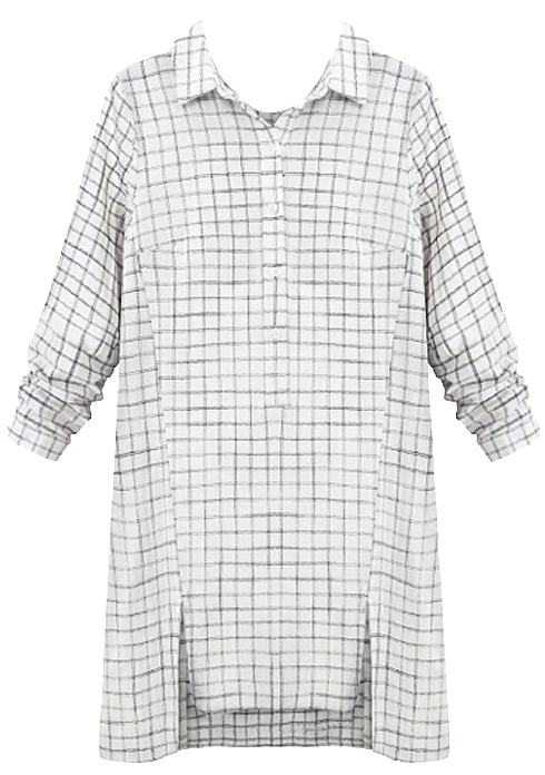 checkered-long-sleeves-button-down-shirt-in-black-and-white