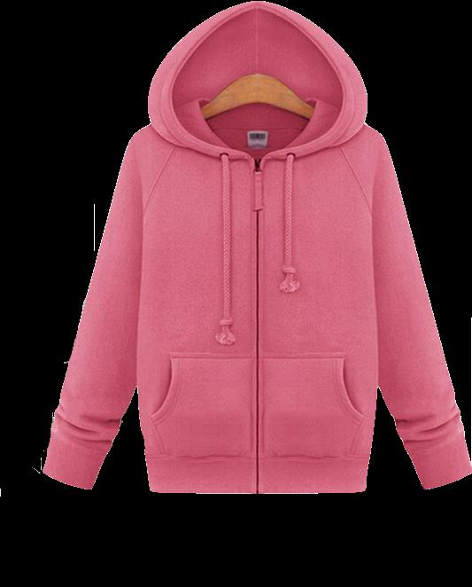 cute-pink-hooded-zipper-jacket