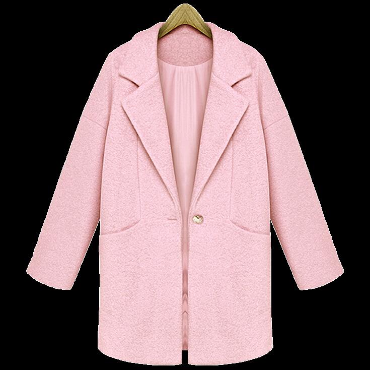 cute-pink-lapel-woolen-coat