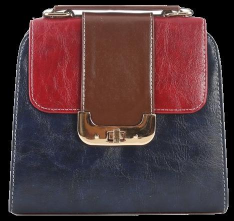 faux-leather-contrast-color-handheld-bag