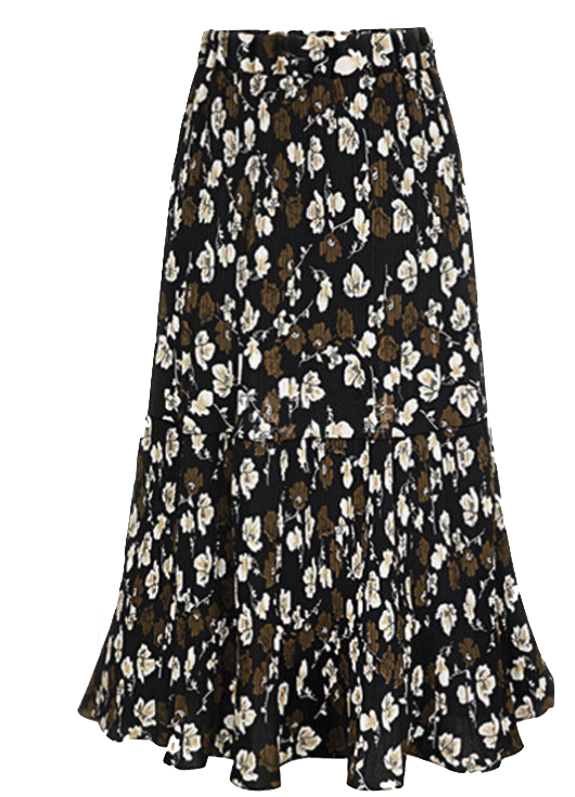 floral-print-midi-skirt