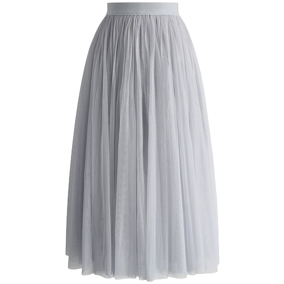 grey-multi-layered-midi-tulle-skirt-with-elastic-waistband