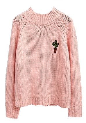 high-neck-knitted-sweater-with-embroidred-cactus