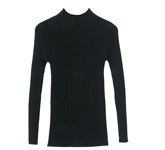 high-neck-slim-fit-knitted-sweater