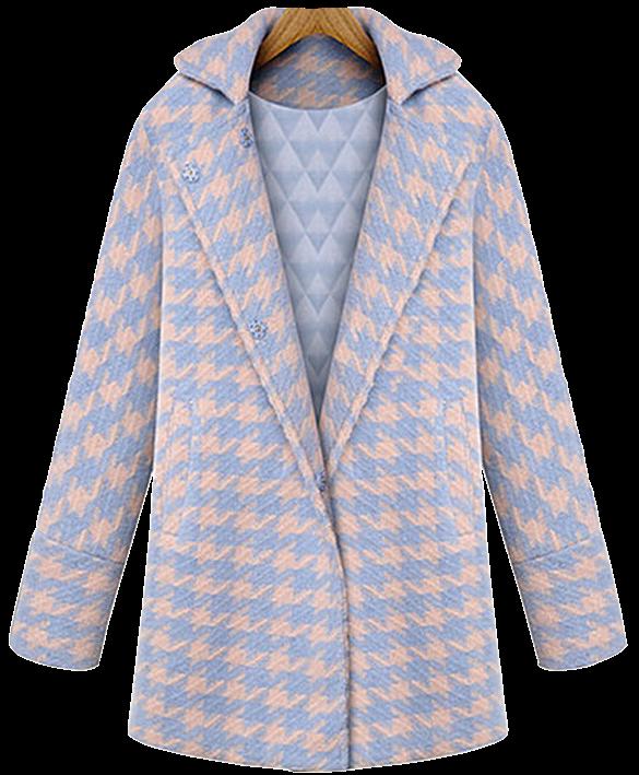 houndstooth-print-fleece-wool-coat