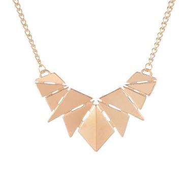 metallic-gold-geometric-pattern-statement-necklace