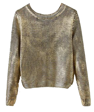 metallic-gold-stripes-knitted-sweater