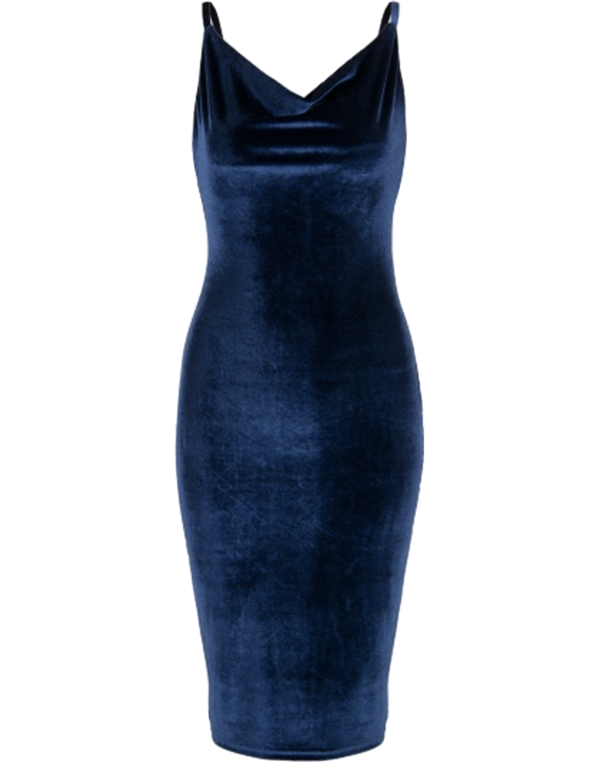 navy-blue-velvet-spaghetti-straps-plunge-v-bodycon-dress