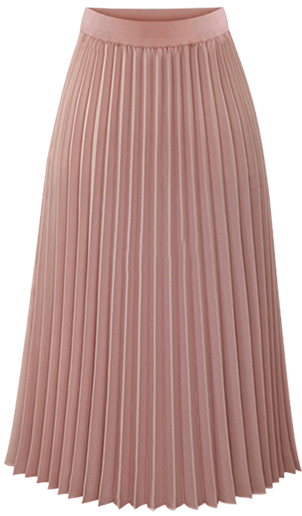 pink-pleated-midi-skirt