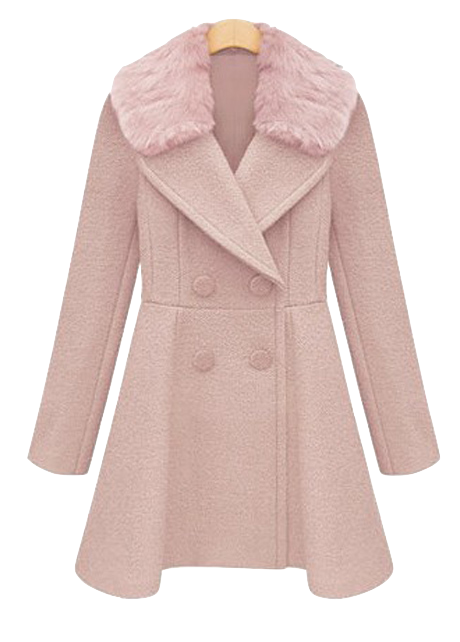 stylish-double-breasted-trench-coat-with-fur-collar-pink