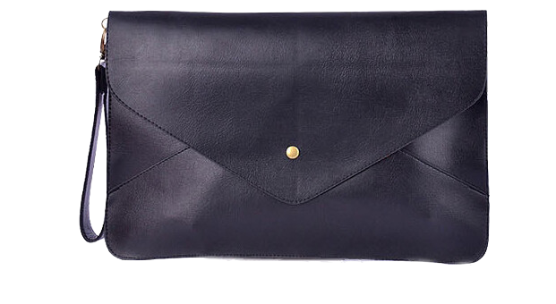 synthetic-leather-envelope-clutch-bag-in-black