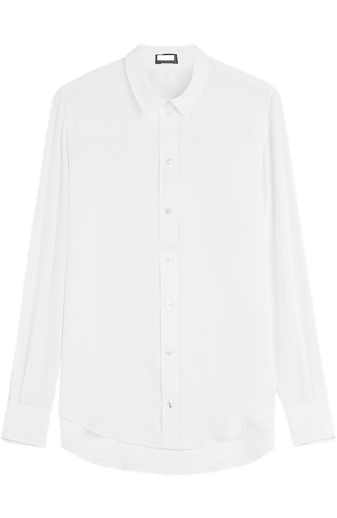 white-button-down-shirt