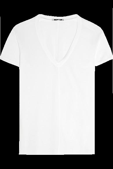 white-v-neck-shirt