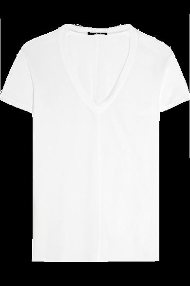 white-v-neck-tee