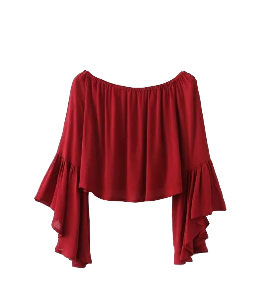 womens-off-the-shoulder-flare-sleeves-cropped-top