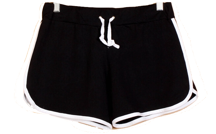 elastic-waist-contrast-trim-sport-shorts
