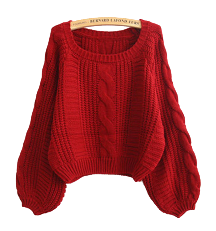 red-cable-knit-sweater