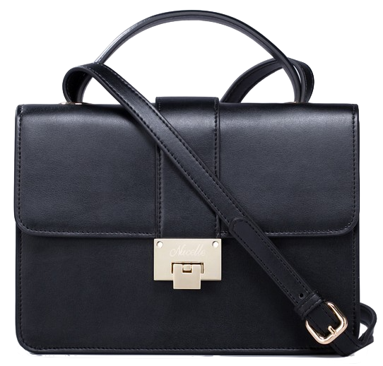 black-buckle-deisgn-messenger-bag