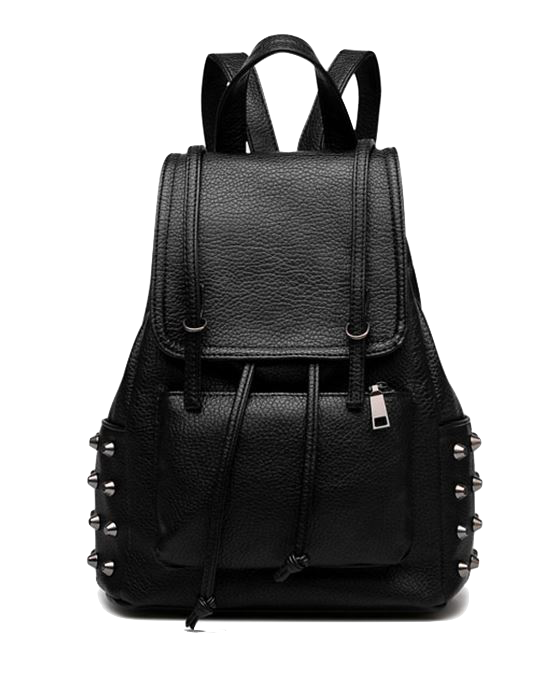 black-leather-backpack-featuring-rivets-embellishments