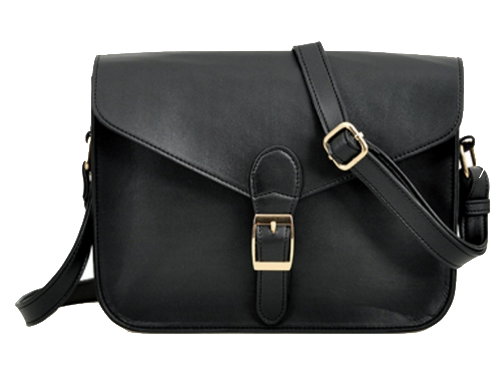 black-leather-messenger-shouler-bag