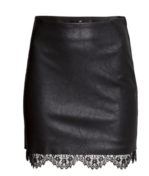 black-leather-short-pencil-skirt
