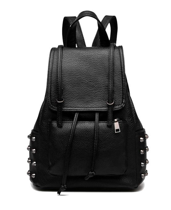 black-leather-studded-backpack