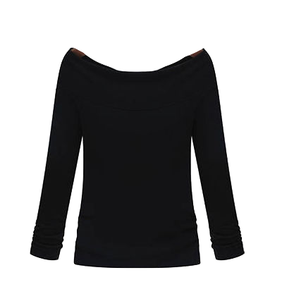 black-off-the-shoulder-long-sleeve-top