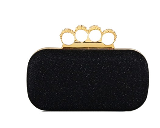 black-sequin-clutch-featuring-rhinestone-ring-handle