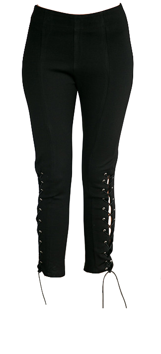 black-slim-fit-lace-up-elastic-fitness-pants