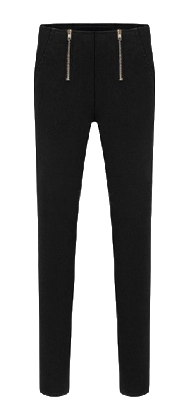black-slim-fit-stretchy-leggings-with-double-zipper-detailing