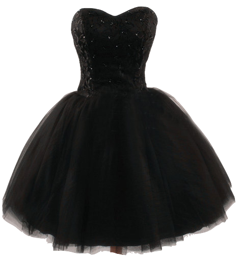 black-strapless-sweetheart-short-tulle-dress-with-lace-up-back