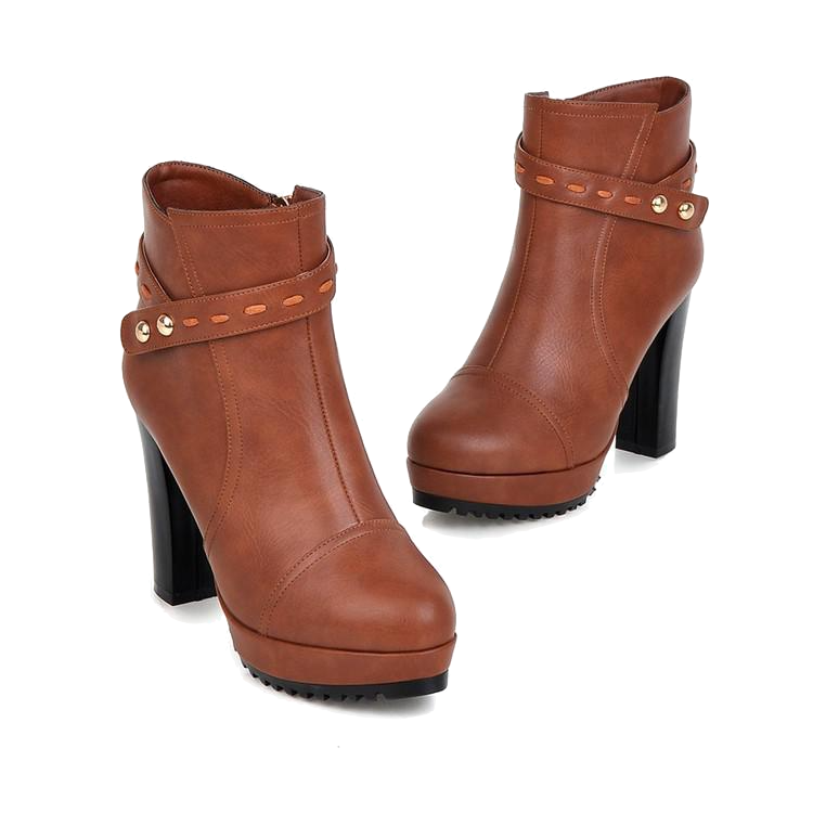 brown-chunky-heel-ankle-boots