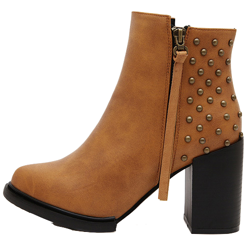brown-faux-leather-chunky-ankle-boots-featuring-rivets-detailing