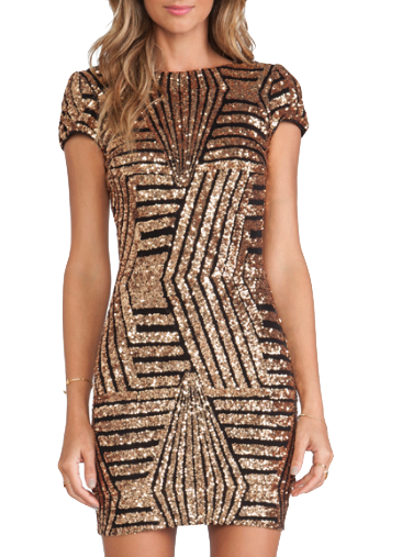 crew-neck-black-and-gold-sequin-bodycon-dress-with-open-back